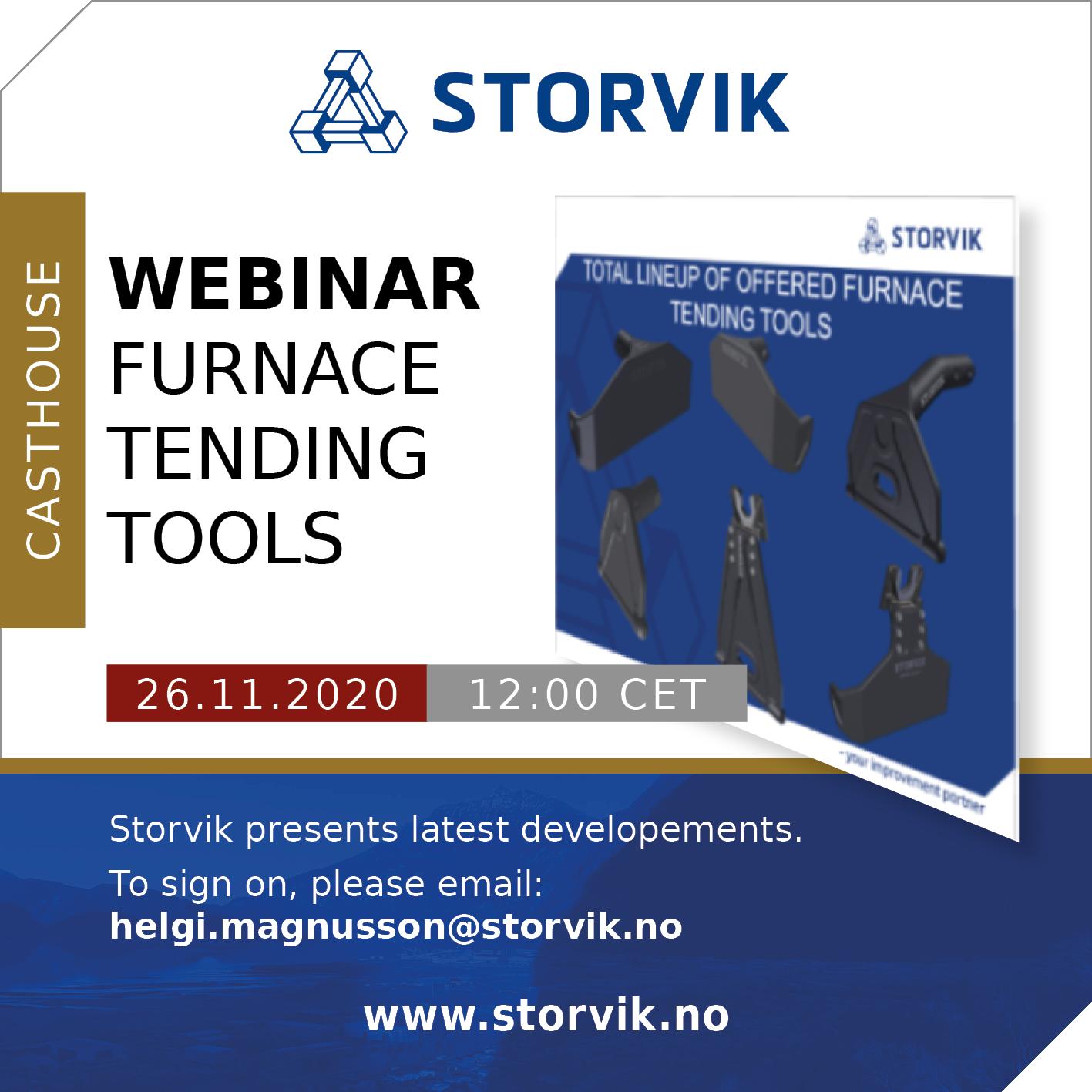 Webinar Furnace Tending Tools