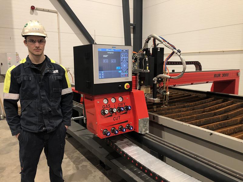 New CNC gas/plasma table for Storvik in Mosjøen
